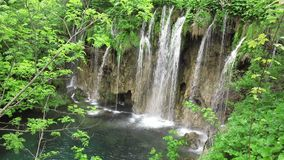Waterfall in Plitvice National Park stock video
