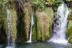 Waterfall in the Plitvice national park Stock Photography