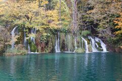 Waterfall in the Plitvice national park Royalty Free Stock Photos