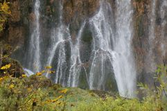 Waterfall in the Plitvice national park Royalty Free Stock Images