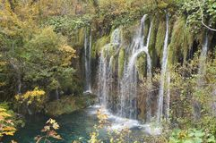 Waterfall in the Plitvice national park Stock Photo