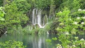 Waterfall in Plitvice National Park stock footage