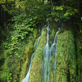 Waterfall in Plitvice National Park, Croatia Royalty Free Stock Photos