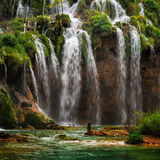 Waterfall in Plitvice National Park, Croatia Royalty Free Stock Image