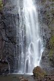 Waterfall. Polynesia. Tahiti. Close up Stock Image