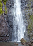 Waterfall. Polynesia. Tahiti Royalty Free Stock Photography