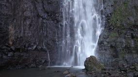 Waterfall. Polynesia. Tahiti stock video