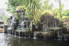 Waterfall pond. Royalty Free Stock Photo