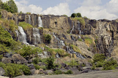 Waterfall pongour at low season, nobody of Stock Photos