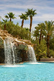 Waterfall in the pool Stock Photography
