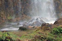 Waterfall - power of nature. Waterfall rain in summer time Stock Image