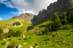Waterfall Praskaloto. Is the highest waterfall on the Balkan Peninsula - 124 m Royalty Free Stock Images