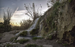 The Waterfall. Product waterfall fracture of an ancient Roman aqueduct Stock Photo