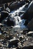 Waterfall on the Putorana plateau. Royalty Free Stock Image