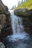 Waterfall on the Putorana plateau. Stock Photos
