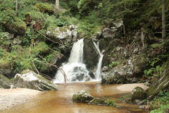 Waterfall in Pyrenees Stock Image