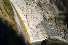 Waterfall in Pyrenees Royalty Free Stock Photo