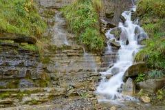 Waterfall in Pyrenees. Sorrosal Waterfall in Broto, Pyrenees, Huesca Province, Aragon, Spain stock photos