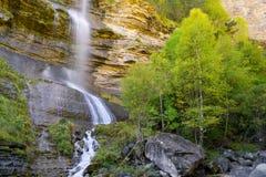 Waterfall in Pyrenees. Sorrosal Waterfall in Broto, Pyrenees, Huesca Province, Aragon, Spain royalty free stock photography
