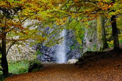 Waterfall in automn Royalty Free Stock Photo