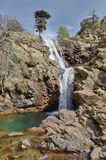 Waterfall Radule in the spring mountains of Corsica Royalty Free Stock Photography