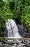 Waterfall in the rain forest. Waterfall in the Fiji rain forest stock images