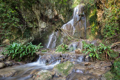 Waterfall in the rain forest Royalty Free Stock Photography