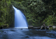 Waterfall in rain forest on Mount Kenya Royalty Free Stock Image