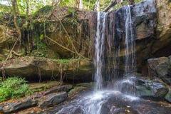 Waterfall in the Rain Forest, Phnom Kulen National Park Stock Photo