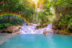 Waterfall in rain forest  Royalty Free Stock Image