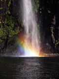 Waterfall and Rainbow royalty free stock images