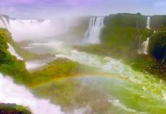 Waterfall Rainbow Stock Image