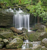 Waterfall on Rainbow Falls Trail, Great Smoky Mountains National Park Royalty Free Stock Image