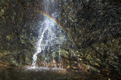 Waterfall Rainbow Stock Images