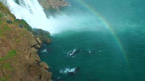 Waterfall and Rainbow stock footage