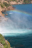 Waterfall - rainbow -  sea Royalty Free Stock Photos