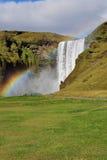 Waterfall and rainbow, Skogafoss Iceland Stock Photos