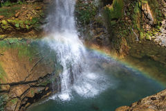 Waterfall and Rainbow Royalty Free Stock Photo