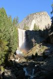 Waterfall with rainbows. In Yosemite Park California USA America Royalty Free Stock Photos