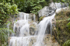 Waterfall in Rainforest, Landscape View Royalty Free Stock Photo