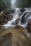 Waterfall in Rainforest Malaysia. Common view of waterfalls  in Selangor, Malaysia Royalty Free Stock Photo