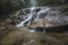 Waterfall in Rainforest Malaysia. Common view of waterfalls  in Selangor, Malaysia Stock Photo