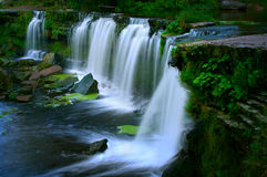 Waterfall in rainy day Stock Images
