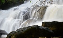 Waterfall. On a rainy day in kerala Stock Images