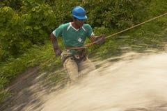 Waterfall rapelling Stock Photography
