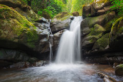 Waterfall from ravine Royalty Free Stock Photos
