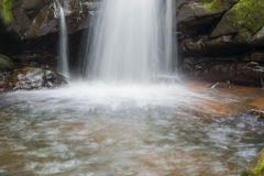 Waterfall from ravine Stock Photos