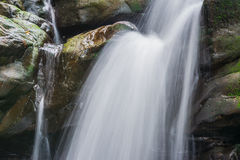 Waterfall from ravine Royalty Free Stock Images