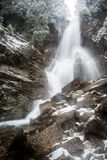 Waterfall from ravine in winter, long exposure Royalty Free Stock Image
