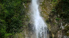 Waterfall in the Republic of Abkhazia North Caucasus close up. Waterfall in the Republic of Abkhazia North Caucasus male tears stock video